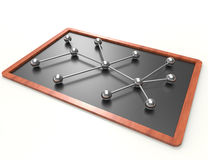 Network concept on blackboard Royalty Free Stock Photo