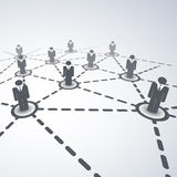 Network Concept - Business Connections Royalty Free Stock Images
