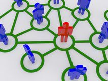 Network concept. A 3d illustration of network concept Stock Image