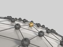 Network concept 3d render Stock Photography