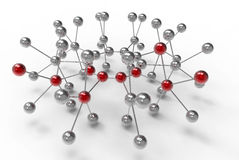 Network Concept. Illustrated with metallic spheres Stock Images