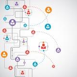 Network concept / Social media Stock Photo