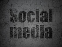 Network concept: Social Media on grunge wall background Stock Images