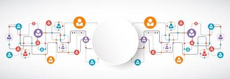 Network concept.  Social media. Stock Photography