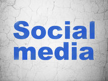 Network concept: Social Media on wall background Royalty Free Stock Photography