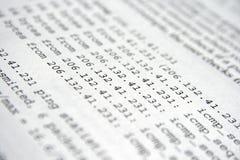 Network confuguration Stock Photography