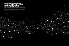 Network Connecting dot polygon background : Concept of Network, Business, Connecting, Molecule, Data, Chemical Royalty Free Stock Image