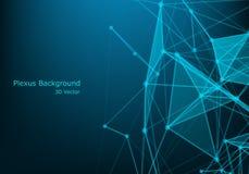 Network connection concept black background vector illustration. Futuristic concept. 3d landscape. Big data digital background. Background Polygonal Cyber stock illustration