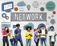 Network Connection Internet Online Technology Concept Stock Photography