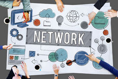 Network Connection Internet Online Technology Concept royalty free stock photos