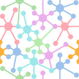 Network connection nodes seamless pattern Stock Image