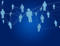 Network connection with people linked each other - Business and. View of a Network connection with people linked each other - Business and communication concept royalty free stock photo