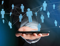 Network connection with people linked each other - Business and. View of a Network connection with people linked each other - Business and communication concept stock image
