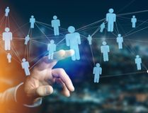 Network connection with people linked each other - Business and. View of a Network connection with people linked each other - Business and communication concept stock photos
