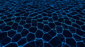 Network connection structure. Abstract technology background. Science background. Big data digital background. 3d rendering. Abstract technology background vector illustration