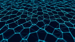 Network connection structure. Abstract technology background. Science background. Big data digital background. 3d rendering. Abstract technology background stock illustration