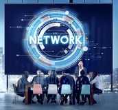 Network Connection System Social Computer Domain Concept Royalty Free Stock Photos