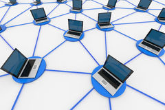Network connections Stock Image