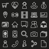 Network connections On black Background. Network connections icon set On black Background Created For Mobile, Web, Decor, Print Products, Applications. Vector Royalty Free Illustration