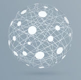 Network connections with circles, global digital connections Stock Images