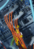 Network Connections of Fiber Optics Stock Images