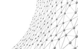 Network Connections mit Punkten und Linien auf weißem Hintergrund Stockbild