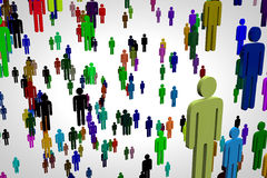 Network Connections Overpopulation Stock Image