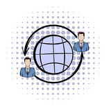 Network connections between people comics icon Stock Photo