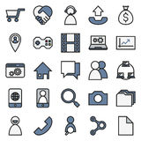 Network connections  On White Background. Network connections icon set  On White Background Created For Mobile, Web, Decor, Print Products, Applications. Vector Stock Images
