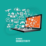 Network Connectivity concept vector. The absract of Network Connectivity concept vector Royalty Free Stock Photo