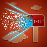 Network Connectivity to mail box concept vector Royalty Free Stock Image