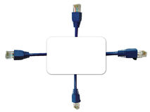 Network Connectors Background Stock Image