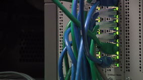 Network cords stock footage