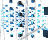 Network cubes 2 Stock Photo