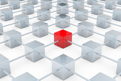 Network of cubes Stock Photos