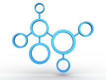 Network. 3D image of network on white background Royalty Free Stock Photos