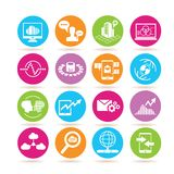 Network and data analysis icons Royalty Free Stock Image