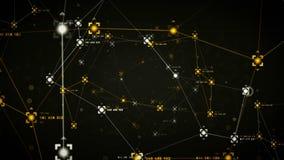 Network Data Points Black stock video