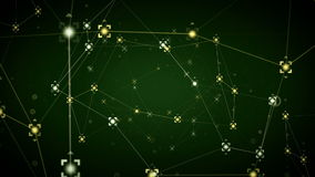 Network Data Points Green stock footage