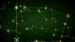 Network Data Points Green stock video footage