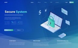 Free Network Data Security Isometric Vector Illustration. Concept Security Data Protection. Data Protection Concept. Royalty Free Stock Image - 146174496