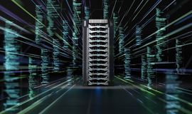 Network Data Server Background Stock Photo