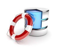 Network data storage support service and server data recovery concept Stock Images