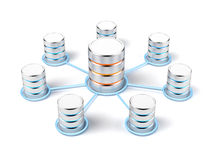 Network database. Isolated on a white background Stock Image