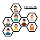 Network design. Stock Image