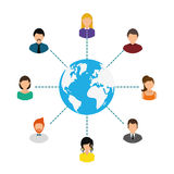 Network design. Royalty Free Stock Photos