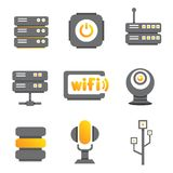 Network device icons Stock Photo