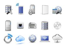 Network devices and computing icons Stock Images