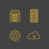 Network devices and hosting services Stock Photos