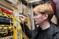 Network engineer at FOCL site Stock Photography